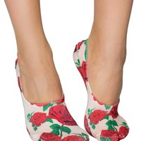 Red Roses Low Cut Liner Socks