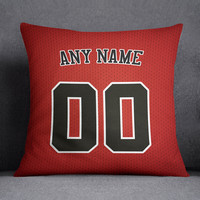 Chicago Bulls Pillow Front and Back 18 x 18 - Print Personalized Select ANY Name & ANY Number