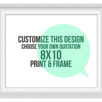 Printable Poster: Custom Speech Bubble - Horizontal 8x10 - Digital Wall Art - Printable Art