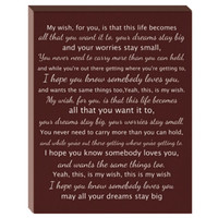 SALE Song Lyrics Canvas 11 x 14- First dance song lyrics canvas
