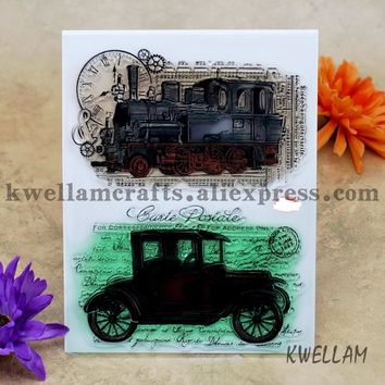 Classic Cars Scrapbook DIY photo cards account rubber stamp clear stamp transparent stamp 14x18cm KW6122509