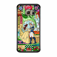 Rose Beauty And The Beast Disney Stained Glass Samsung Galaxy S6 Edge Case