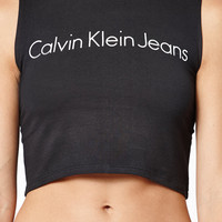 Calvin Klein Fitted Mock Neck Cropped Tank Top at PacSun.com
