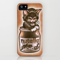Kitten Loves Nutella iPhone Case by Tim Shumate | Society6