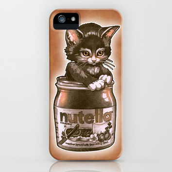 Kitten Loves Nutella iPhone Case by Tim Shumate   Society6