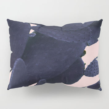 Purple Cactus On Pink Pillow Sham by ARTbyJWP
