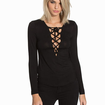 Lace Up Top, NLY Trend