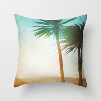 Lone Palm Throw Pillow by Kate