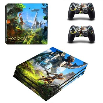 Game Horizon Zero Dawn PS4 Pro Skin Sticker For Sony PlayStation 4 Console and 2 Controllers PS4 Pro Skin Stickers Decal