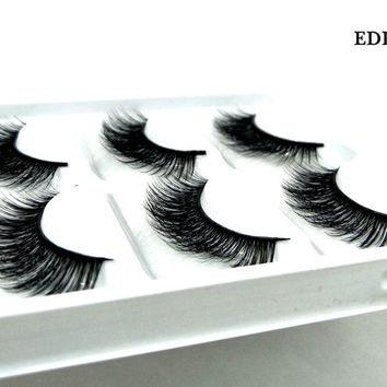 New 5 pairs thick false eyelashes black long 3d mink eyelashes eyelash extension professional mink lashes makeup eye lashes 29