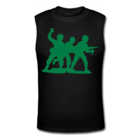 Army Men Squad Men's Muscle T-Shirt - Men's Custom Tank Tops