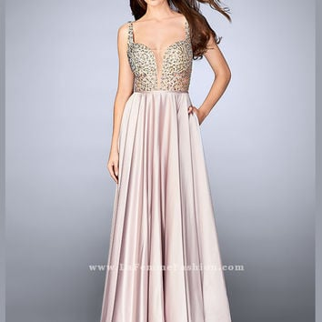 La Femme 24305 V-neck Prom Dress