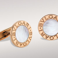 BVLGARI BVLGARI cufflinks in 18kt pink gold with mother of pearl.