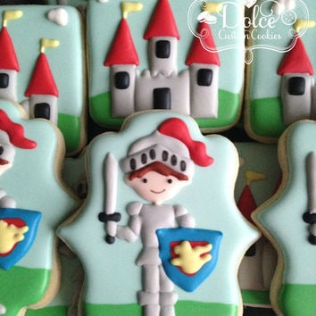 Knight Dragon Castle Cookies