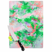 "Ebi Emporium ""When We Were Mermids 4"" Green Pink Cutting Board"