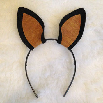 Custom Puppy Dog Ears Headband Pointy Any Color Doberman Great Dane Belgian Shepard Miniature pinscher