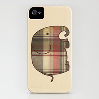 Plaid Elephant iPhone & iPod Case by Terry Fan | Society6