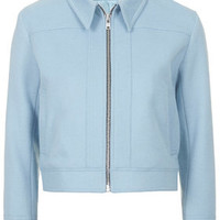 Tailored Cashmere Jacket by Boutique - Baby Blue