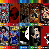 iPhone 4,4s iPhone 5,5s,5c and Samsung Galaxy S3/S4/S4,Skeleton,Book of The Dead,Ariel Mermaid,Snow White,Cinderella,Wicked Broadway