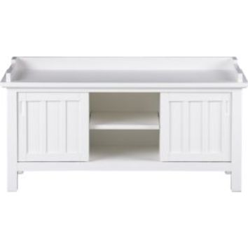 Brighton White Storage Bench