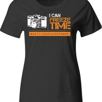 I can freeze time whats your superpower Photographer T Shirt - Unisex T-Shirt
