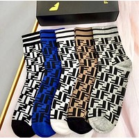 Fendi Cotton Knitwear Socks Stockings with Box