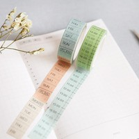 Japanese Washi Tape Notebook Schedule Diary Timeline Weekly Plan For Planner Accessories Diy Tools Decoration Adhesive Tape
