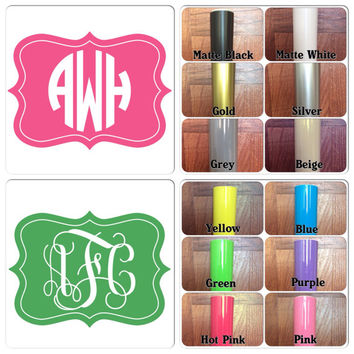 USA Customize Monogram Decal , Personalize Monogram Sticker , Vinyl Decal , Vinyl Sticker , Car decal , Laptop decal , Door , Wall decal
