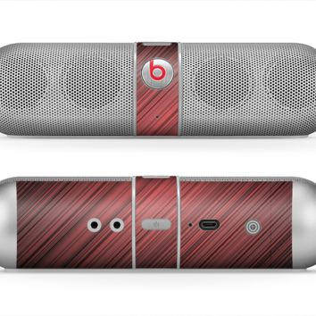 The Red Diagonal Thin HD Stripes Skin for the Beats by Dre Pill Bluetooth Speaker