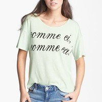 Ten Sixty Sherman 'Comme Ci Comme Ca' Tee (Juniors) | Nordstrom