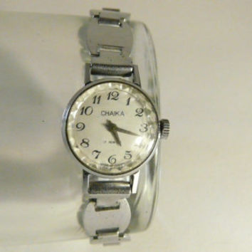 "Woman's watch, vintage USSR  .Russian watch, ""Chaika"" 17 jewels, Mechanical watch, perfect vintage working condition"