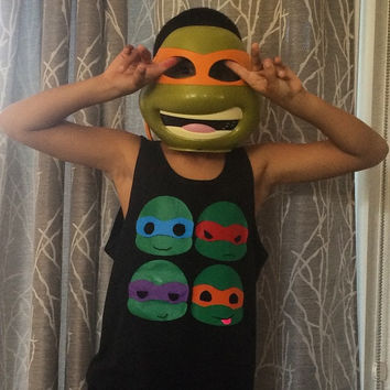Ninja Turtle  - Boys Tank - RWL Kids - Ruffles with Love