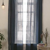 Cotton Lace Panel Curtains in Blue - Urban Outfitters