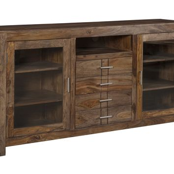 Four Drawer Two Door Media Console