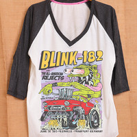 Blink 182 Monster All American Rejects Cover Album Pop Indie Punk Rock Tattoo Vintage Men Women Unisex T shirt V Neck Size S M L