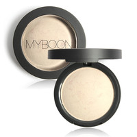 MYBOON translucent powder Pressed Powder Foundation Palette Cosmetic Baking Powder delicate skin whitening set 3 colors