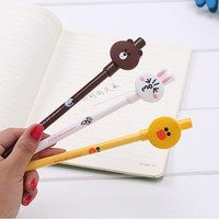Kawaii 3D Funny Design Black Gel Pen