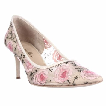 Bettye Muller Annebel Pointed Toe Dress Pumps - Natural