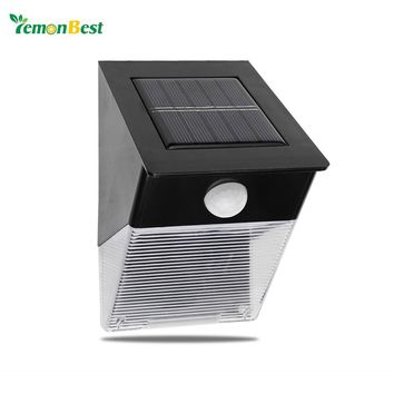 Outdoor Decoration Auto ON/OFF Motion Sensor Waterproof Solar LED Wall Lamp for Courtyard Garden Patio Path Stairways Light