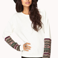 Worldly Beaded Sweatshirt