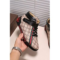 GUCCI Trending Women Men Personality High Help Flat Shoe I