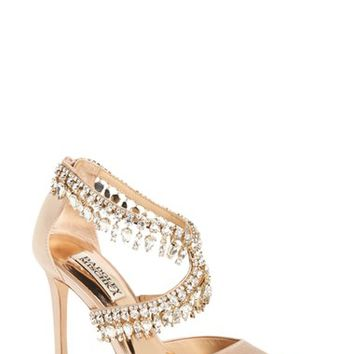 Badgley Mischka 'Glamorous' Crystal-Embellished Pointy Toe Pump (Women) | Nordstrom