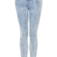 TALL MOTO Acid Leigh Jeans - Acid Blue