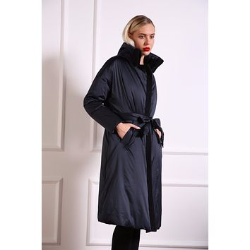 azzimia 2016 new Fashion style warm for -20 degrees Winter parkas dress Women Overknee long with Pockets Outwear Down Coat