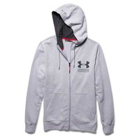 Under Armour Sportstyle Full Zip Fleece Hoodie in Air Force Grey Heather for Men 1269734-053