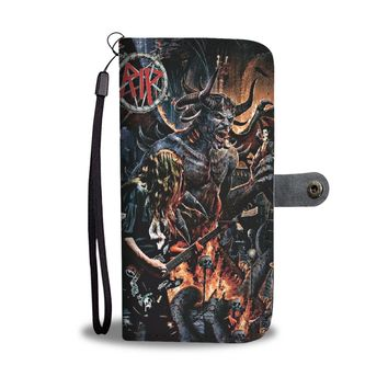 KUYOU Slayer On Stage Satanic Wallet Phone Case