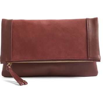 Sole Society Jemma Suede Clutch | Nordstrom