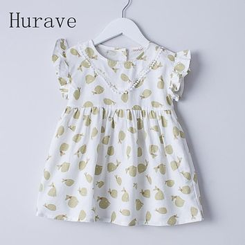 Children robe Dress Cute kids clothes fly Sleeve Dresses printed fish summer Clothing
