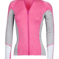 MAVERICKS FRONT ZIP L/S RASHGUARD