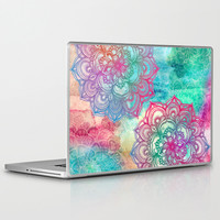 Round & Round the Rainbow Laptop & iPad Skin by micklyn